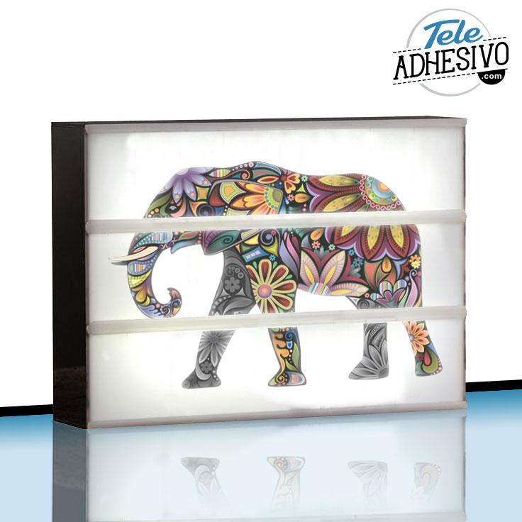 Lightbox personalizada con elefante