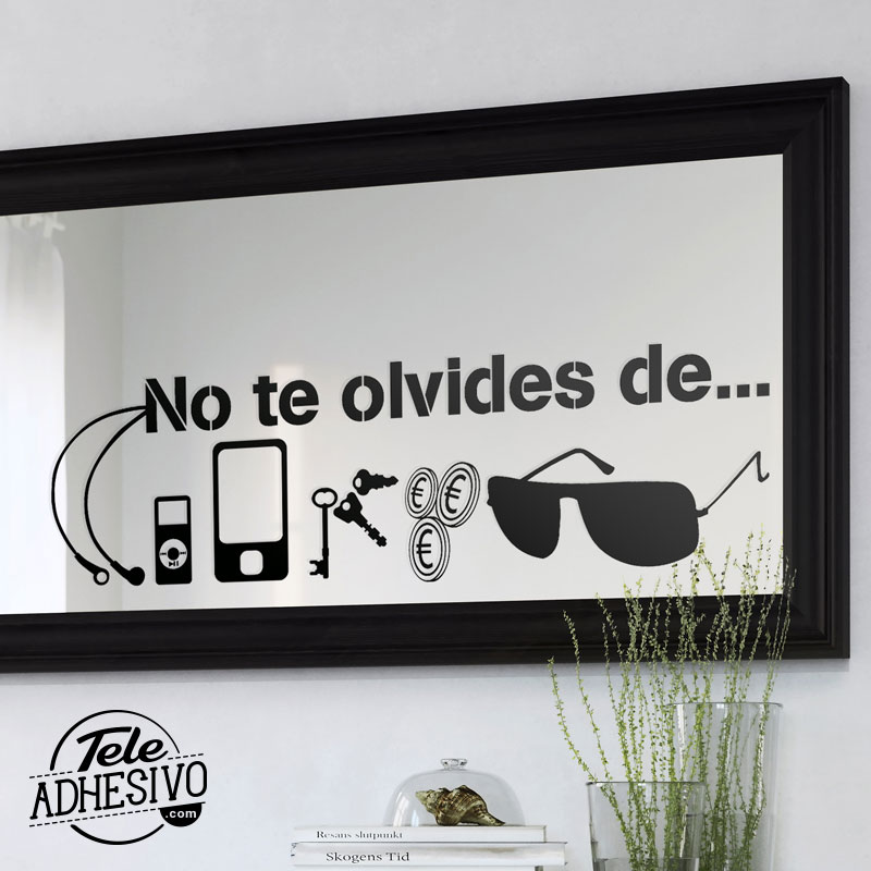 Decorar espejos con vinilo blog teleadhesivo for Espejo decorativo pared
