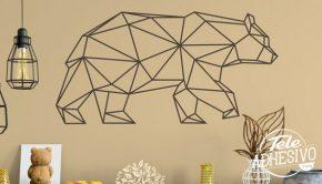 Vinilo oso origami