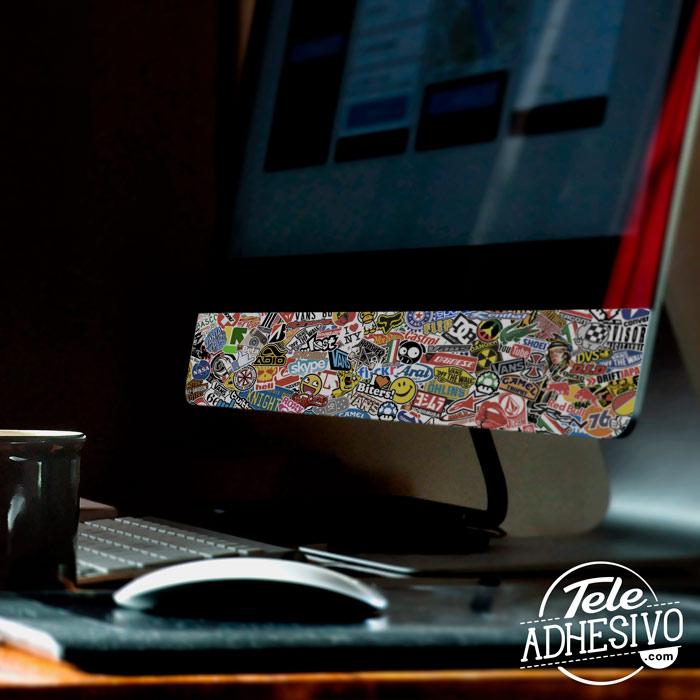 Forrar iMac con pegatina Sticker Bomb