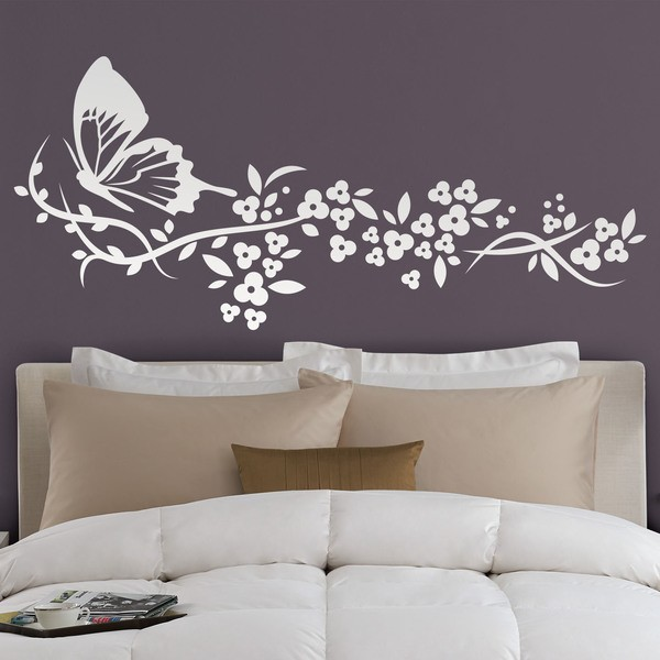 Vinilo floral mariposa