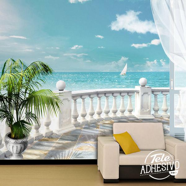 Fotomural balcón al mar