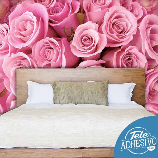 Fotomural flores rosas