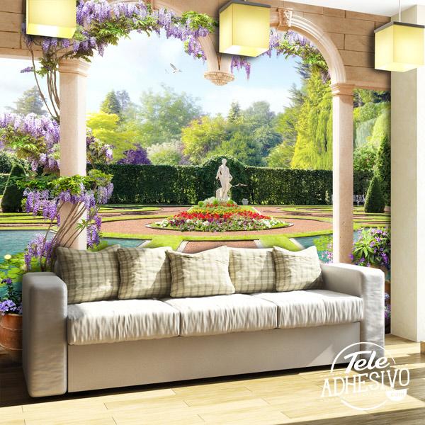 Fotomural jardines en verano
