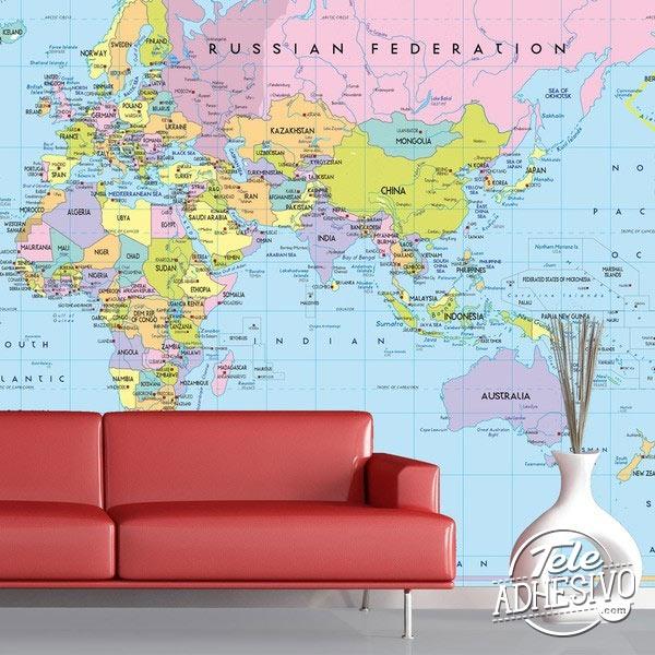 Fotomural mapa gran formato