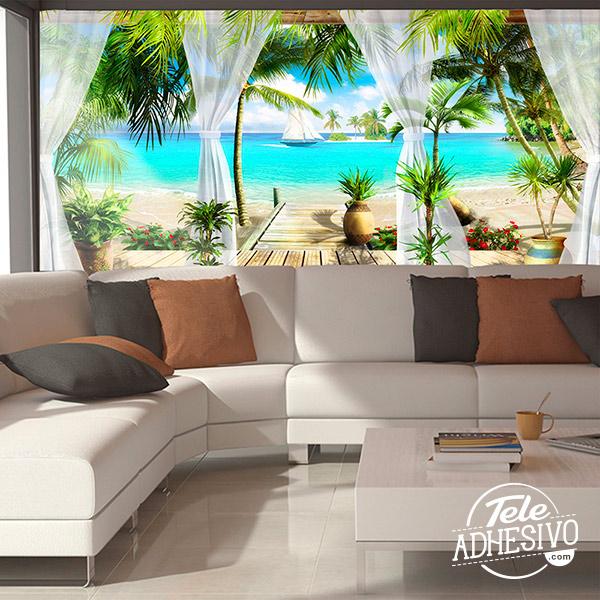Fotomural paisaje playa