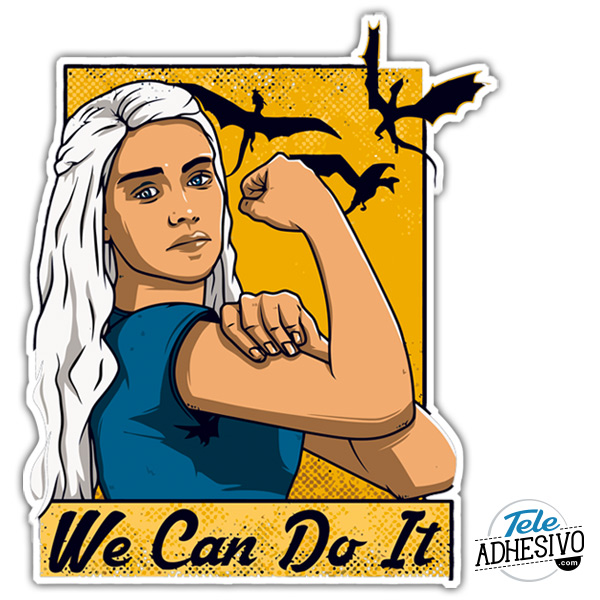 Pegatina Khaleesi We can do it GOT