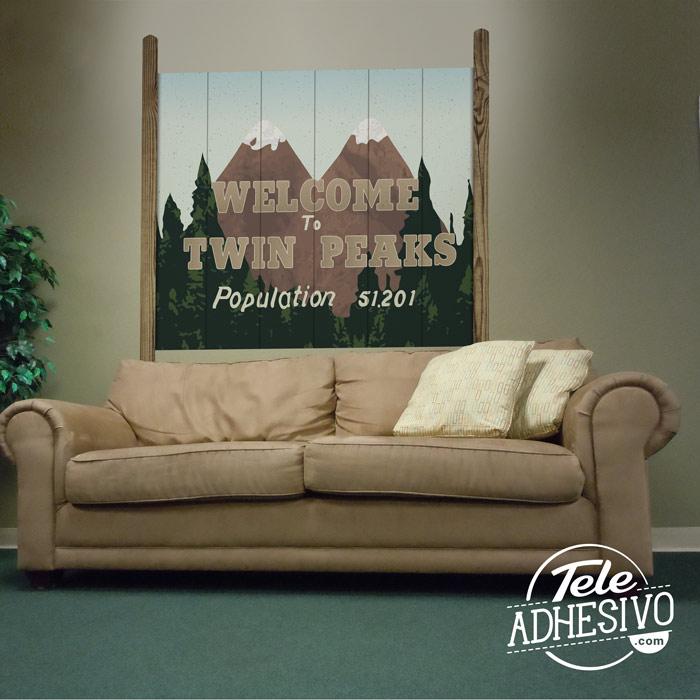 Vinilo cartel Welcome to Twin Peaks