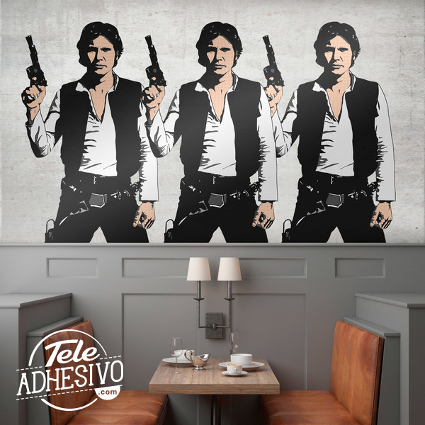 Vinilo Han Solo Pop Art