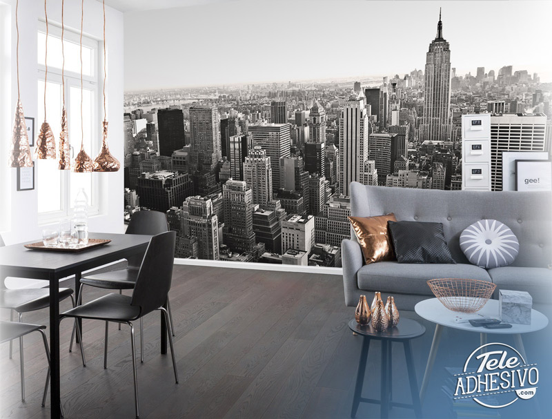 Fotomural blanco y negro Nueva York