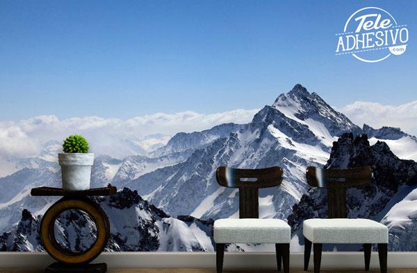 Fotomural montañas nevadas