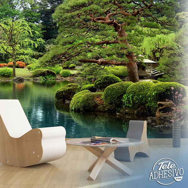 Fotomural jardín japonés