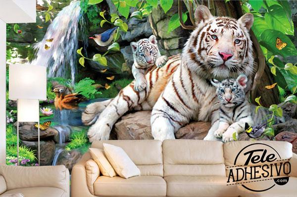 Fotomural tigres albinos