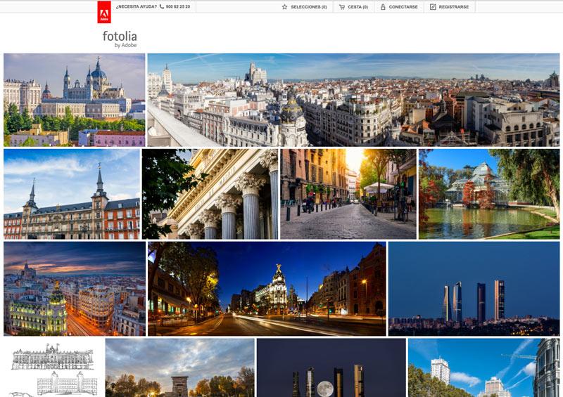 Imágenes de Madrid en Fotolia