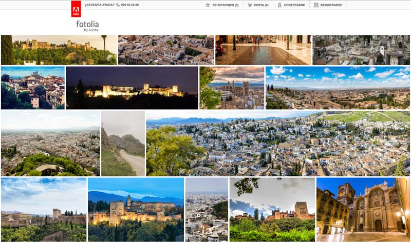 La Alhambra de Granada en Fotolia