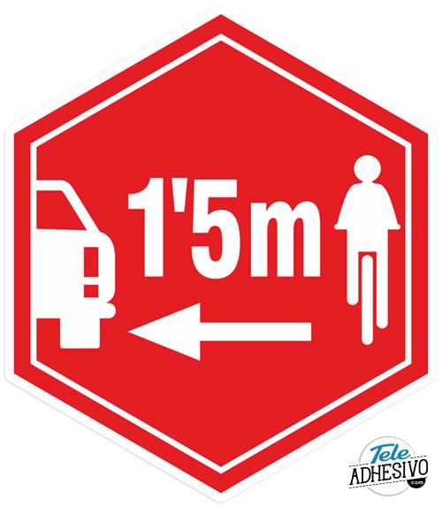 Pegatina adelantamiento ciclistas / coches