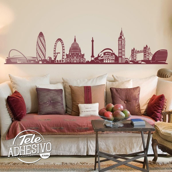 Skyline Londres: vinilo decorativo