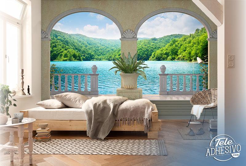 Trampantojo lago en dormitorio