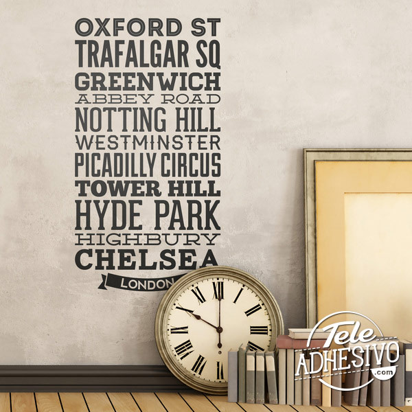 Vinilo calles y rincones de Londres