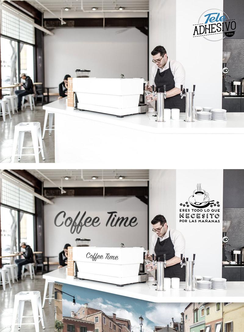 Cafetería decorada con vinilos y fotomurales