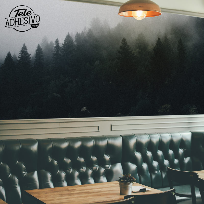 Fotomural en cafetería