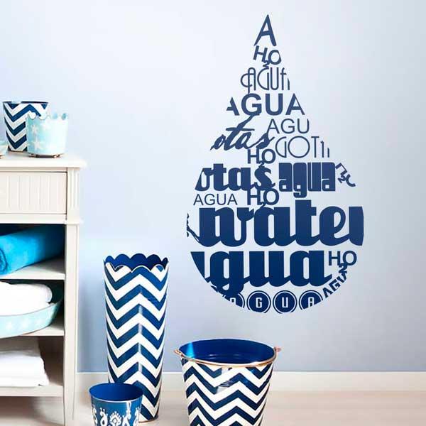 Colores para decorar en invierno Vinilo azul
