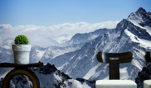 Mural montaña nevada