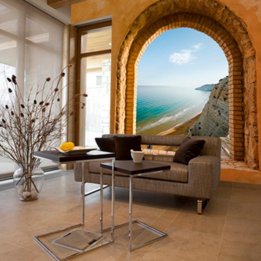 fotomural ventana al mar