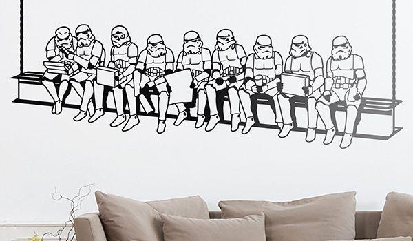 vinilos decorativos star wars stormtroopers