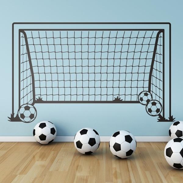 Vinilo infantil decorativo porteria de futbol