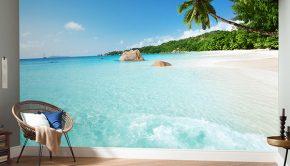 fotomurales playa tropical