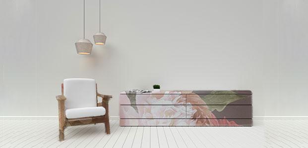 Muebles decorados con vinilos de naturaleza
