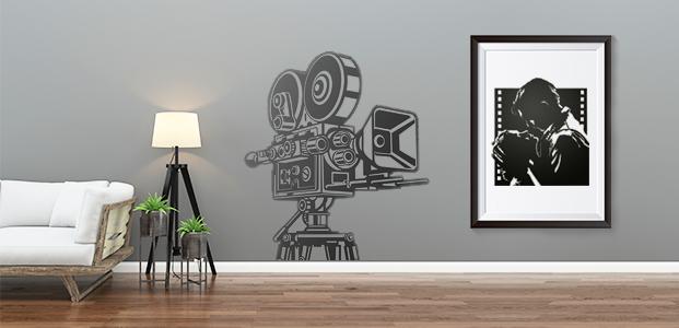 Salon decorado con elementos de cine estilo vintage