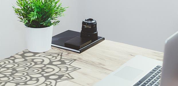 Personalizar muebles con mandalas de vinilos