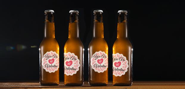 Botellas de cerveza con Pegatinas Personalizadas