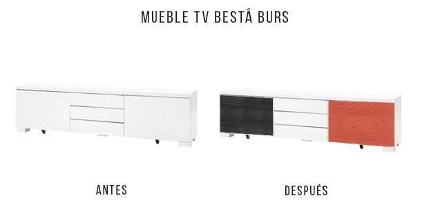 DIY mueble de TV con fotomural