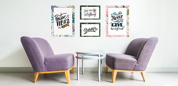 Marcos de Ikea decorados con vinilos