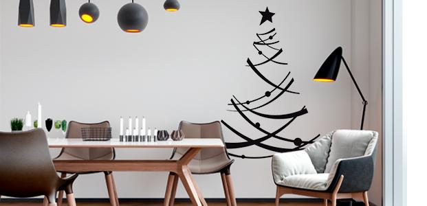Vinilo árbol navideño moderno.