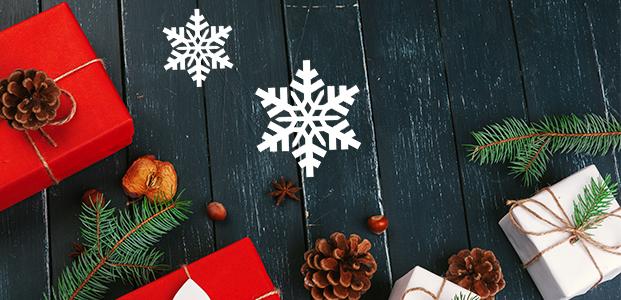 Vinilo decorativo de estrellas navideñas.