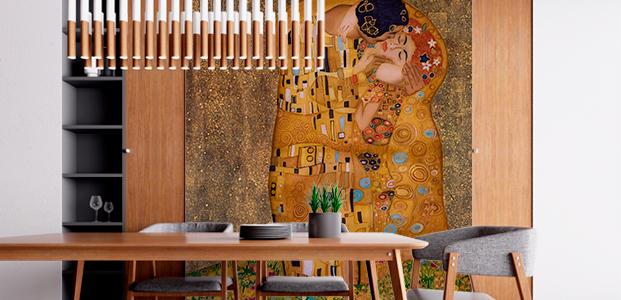 Fotomural del cuadro El beso de Klimt