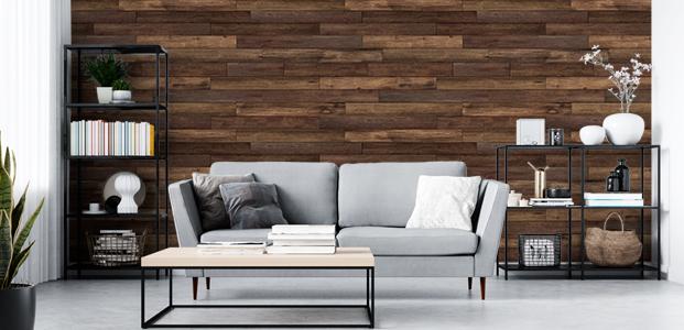 Fotomural de vinilo efecto madera