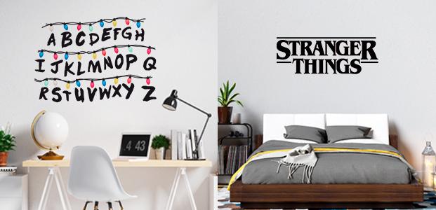 Vinilo abecedario y logotipo Stranger Things