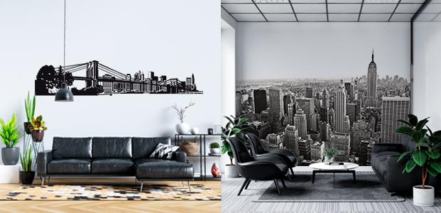 Skyline y fotomural de Nueva York
