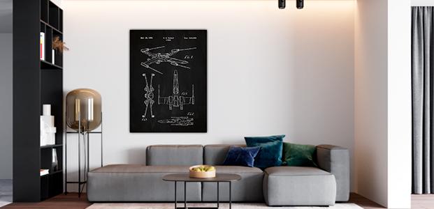 Poster adhesivo de la saga Star Wars