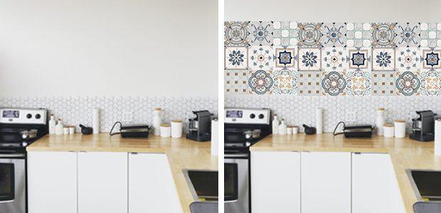 Fotomural de azulejos para decorar la pared de tu cocina.