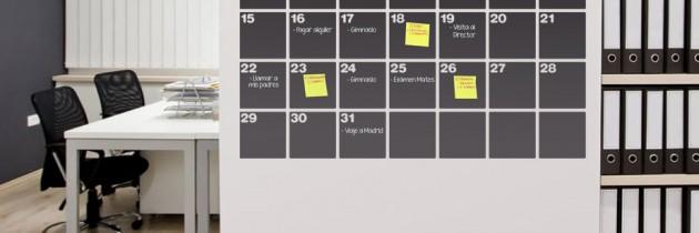 Organiza tu calendario escolar con una pizarra de pared - Pizarra calendario ...