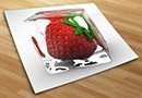 Fotomurales fresa y hielo