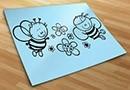 Vinilos infantiles abejas