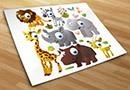 Vinilos infantiles kit animales