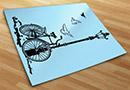 Vinilos decorativos bicicleta